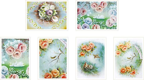 石原洋子のポストカードコレクションVol1(1セット6枚入り)
